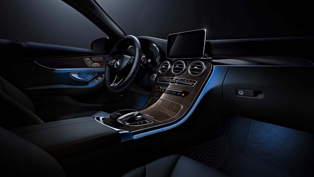 Mercedes Benz C Class Gets Ambient Lighting Inspired By S