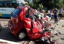 Tata Nano accident