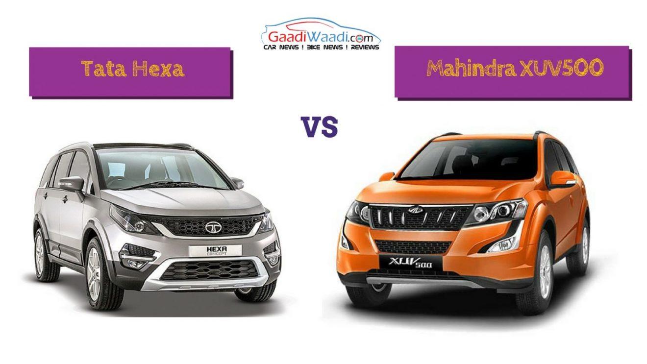 Tnt Auto Sales >> Tata Hexa vs Mahindra XUV500 Comparison - Specs Comparison