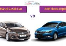 2016 Skoda Rapid facelift vs maruti ciaz