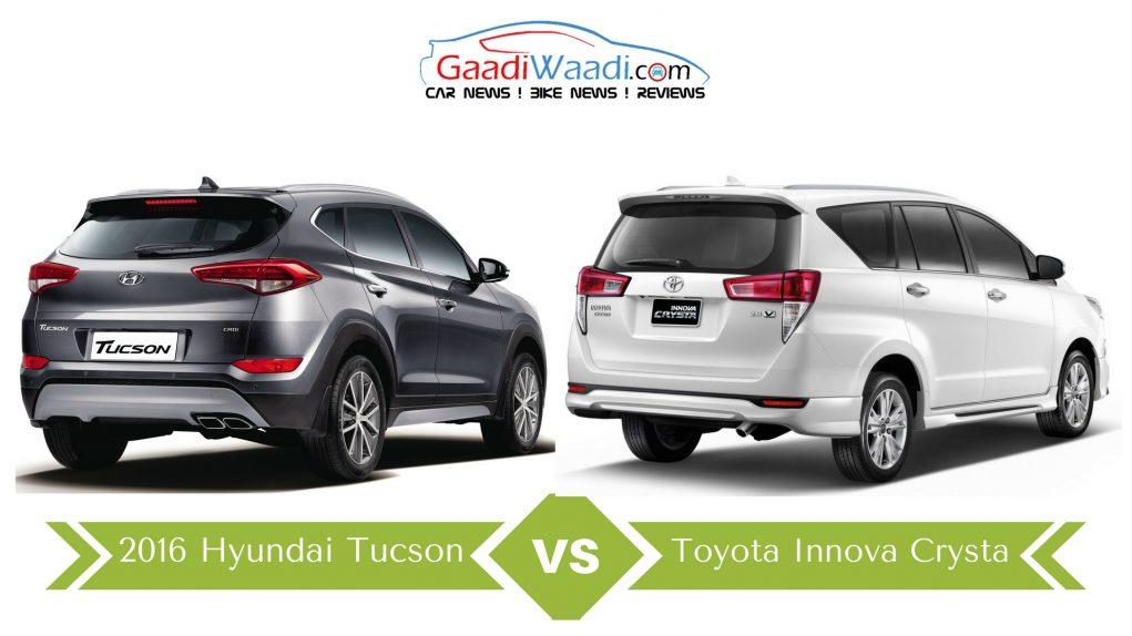 hyundai tucson vs toyota innova crysta closest competitors price wise. Black Bedroom Furniture Sets. Home Design Ideas