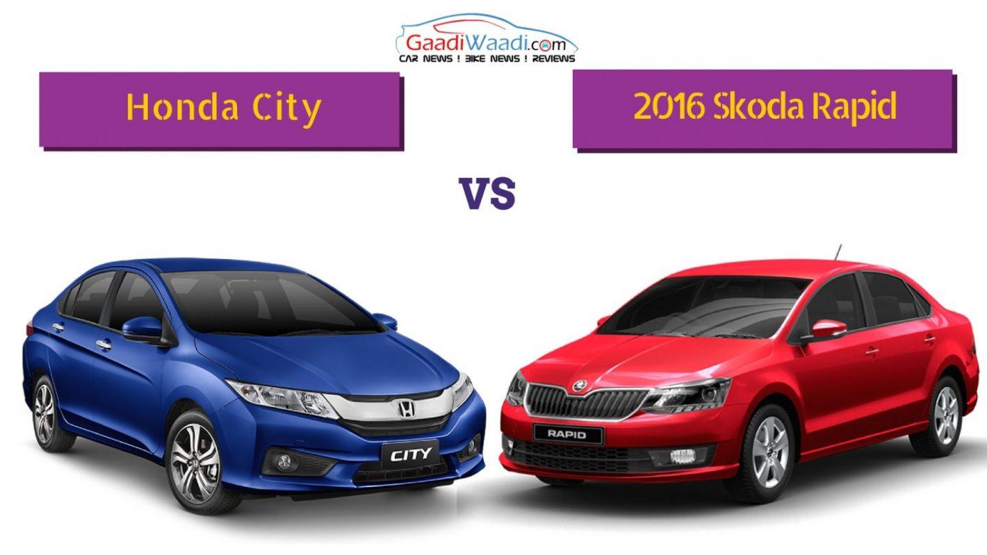2016 Skoda Rapid Facelift Vs Honda City Specs Comparison