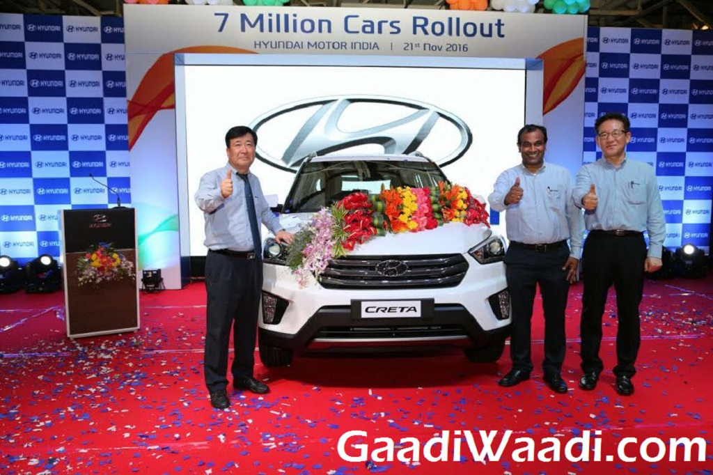Hyundai Rolls Out 7 Millionth Vehicle from India