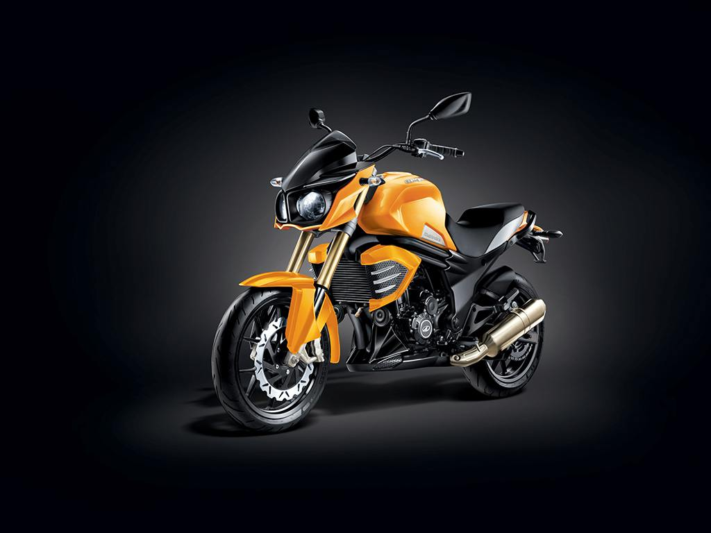Mahindra Mojo Sunburst Yellow