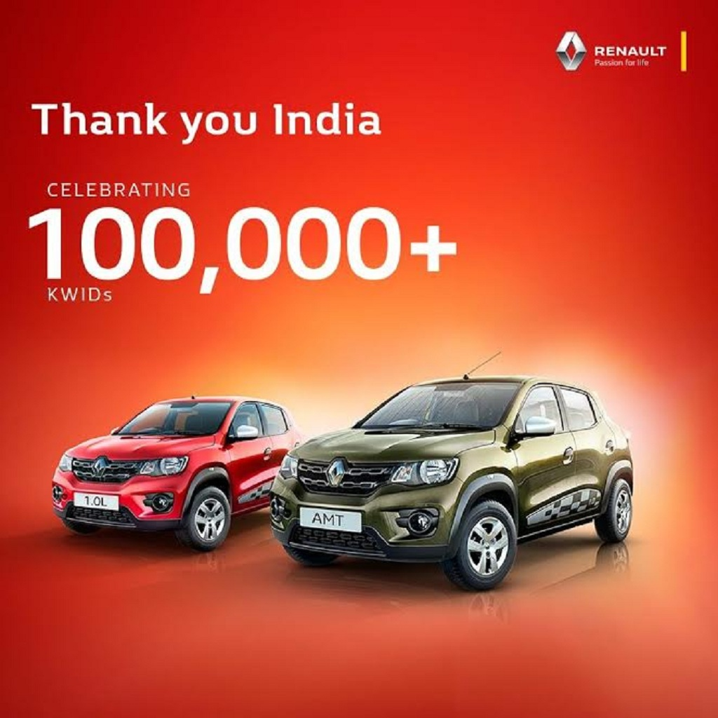 Renault Kwid one lakh customers