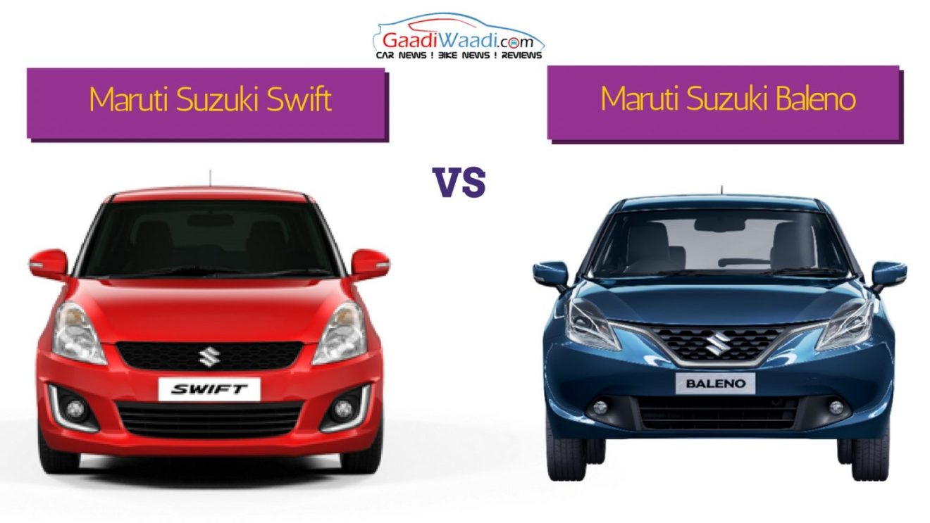 All Types baleno car images : Maruti Swift Vs Maruti Baleno - Spec Comparison