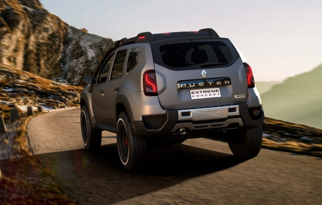 renult duster extreme edition india rear