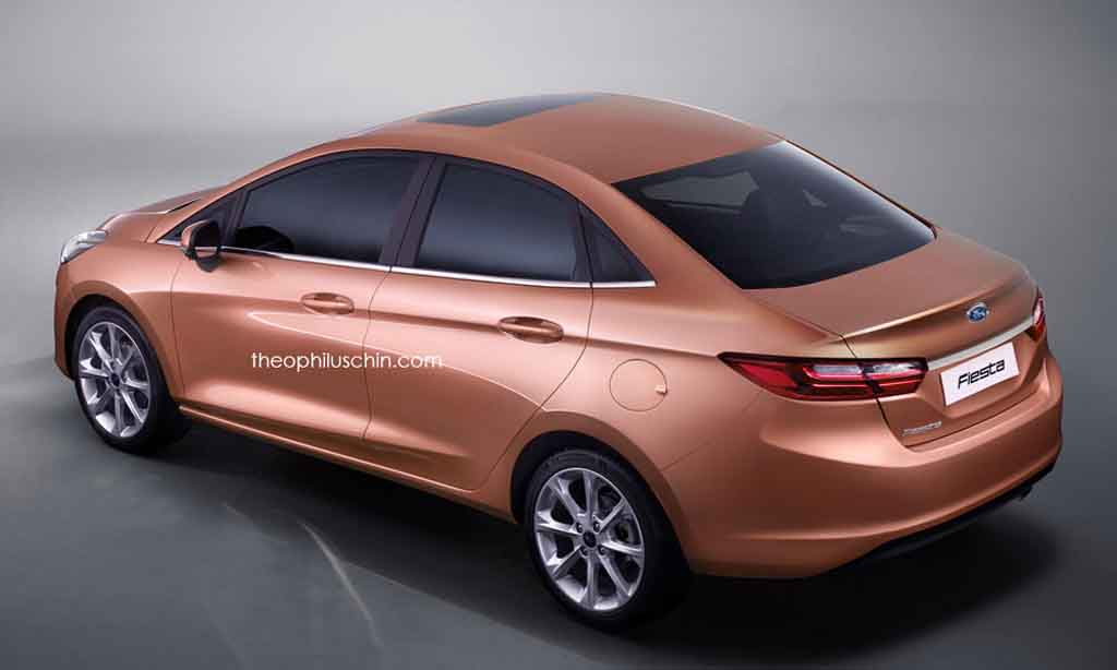 It looks identical to the front grille of India-spec Ford Aspire compact sedan. The car also gets front spoiler from the Fiesta Active. & All New Ford Fiesta Sedan Looks Attractive and Pleasing in Rendering markmcfarlin.com
