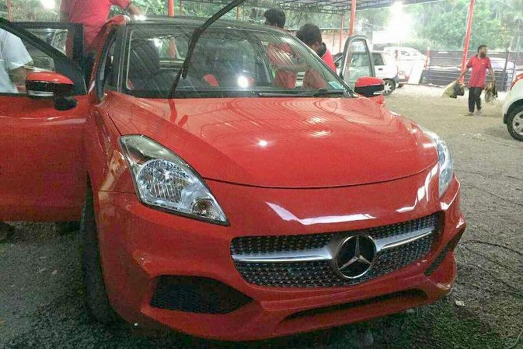 Customised Maruti Baleno Into Mercedes A Class Can Hurt