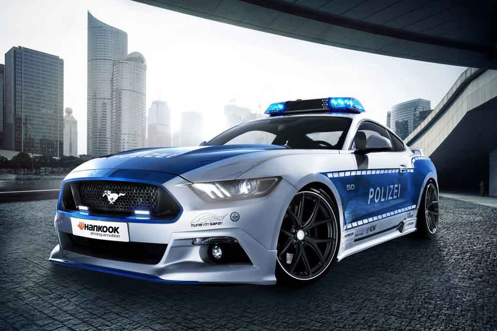Ford Mustang GT Transformed Into German Police Car