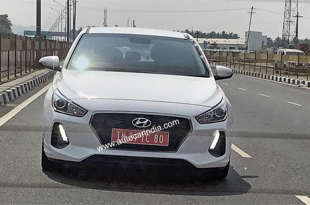 hyundai i30 hatchback spied testing in india for the first time. Black Bedroom Furniture Sets. Home Design Ideas