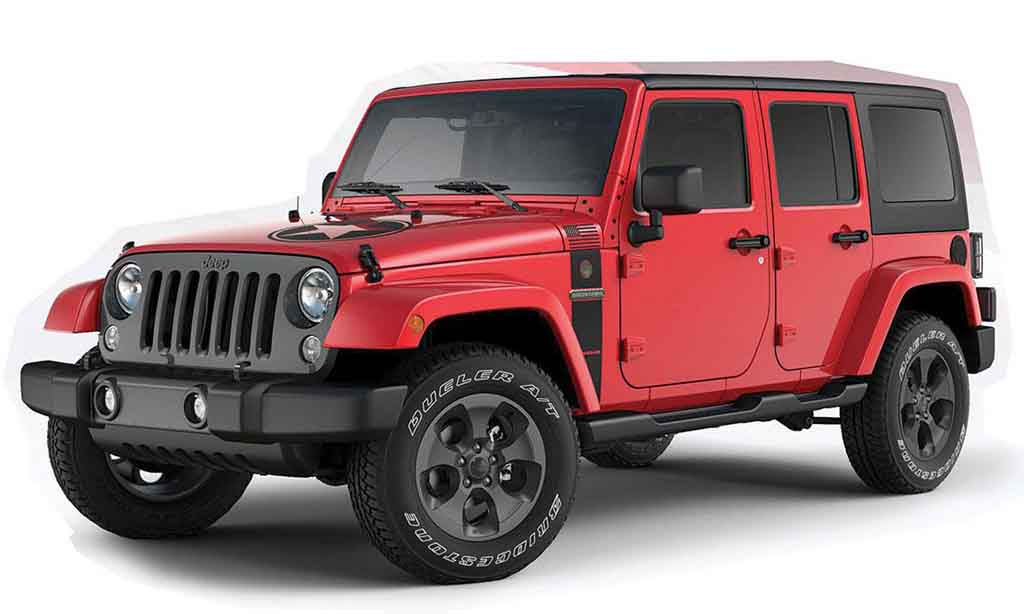 several special edition jeep wrangler suvs to go on sale in us. Black Bedroom Furniture Sets. Home Design Ideas