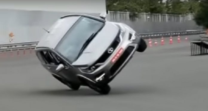 Tata Hexa side wheelie