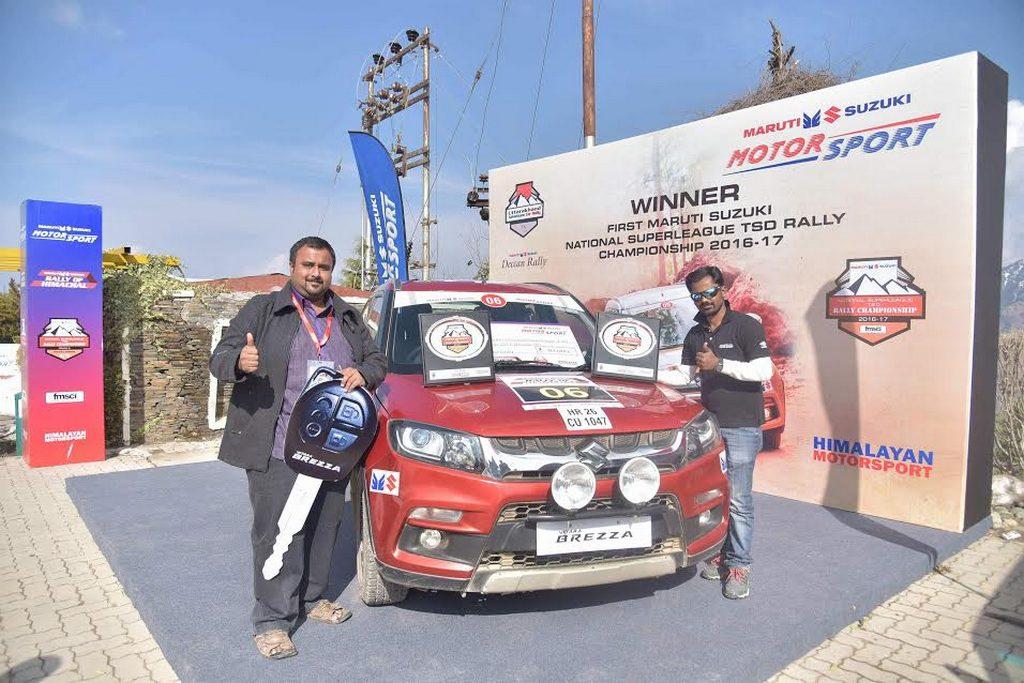 Rally of Himachal Karthick Maruthi Champion 2
