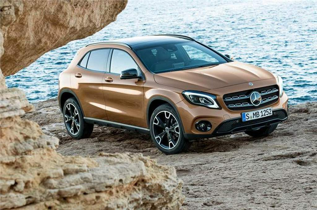 2017 mercedes gla facelift launched in india price specs features. Black Bedroom Furniture Sets. Home Design Ideas