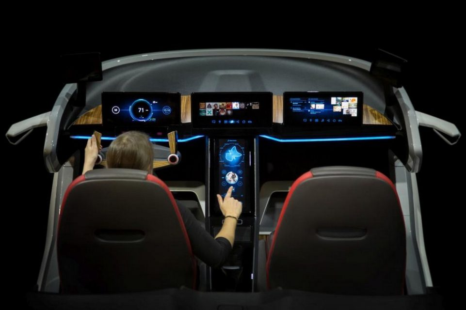 tech rich bosch interior concept showcased at 2017 ces latest car news bikes. Black Bedroom Furniture Sets. Home Design Ideas