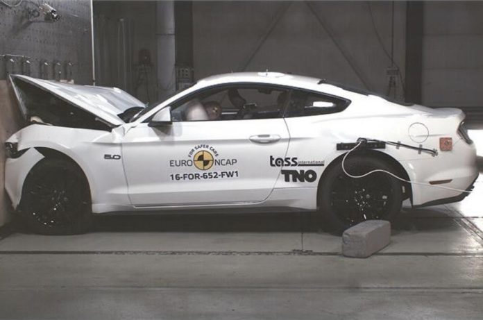 Ford Mustang Receives Two Star Euro NCAP Crash Test Rating