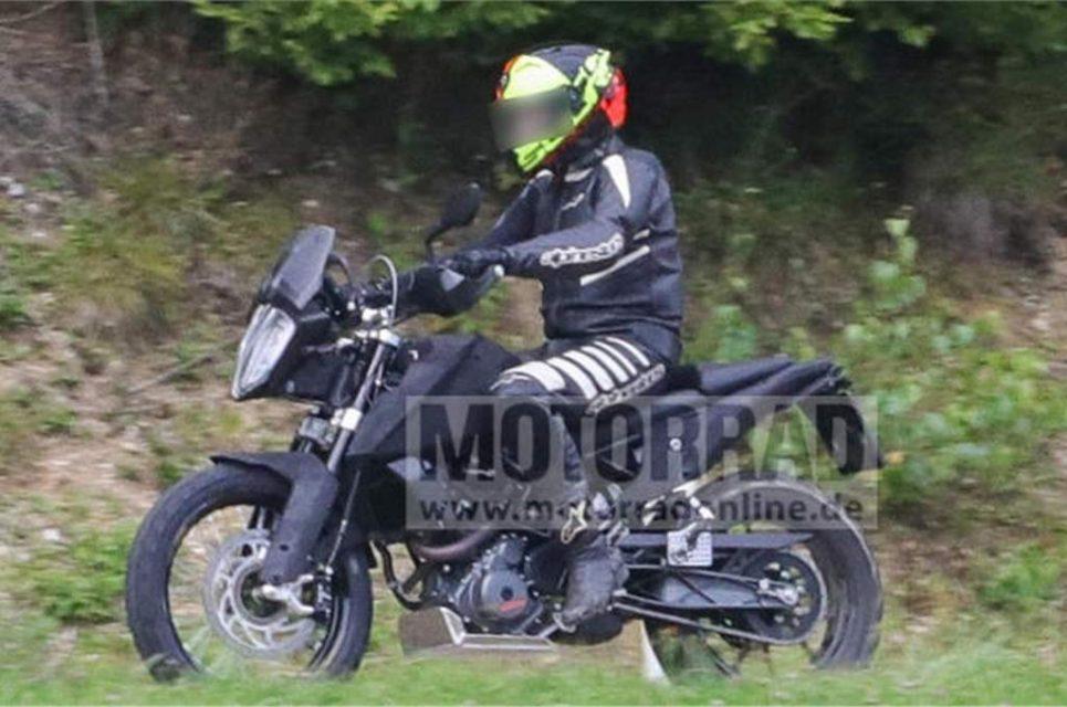 KTM 390 Adventure Spied