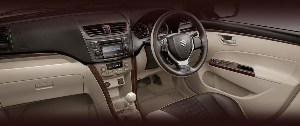 Maruti Suzuki Dzire Allure interior