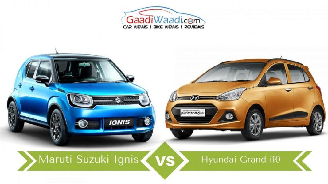 Maruti Suzuki Ignis Vs Hyundai Grand I10 Specs Comparison
