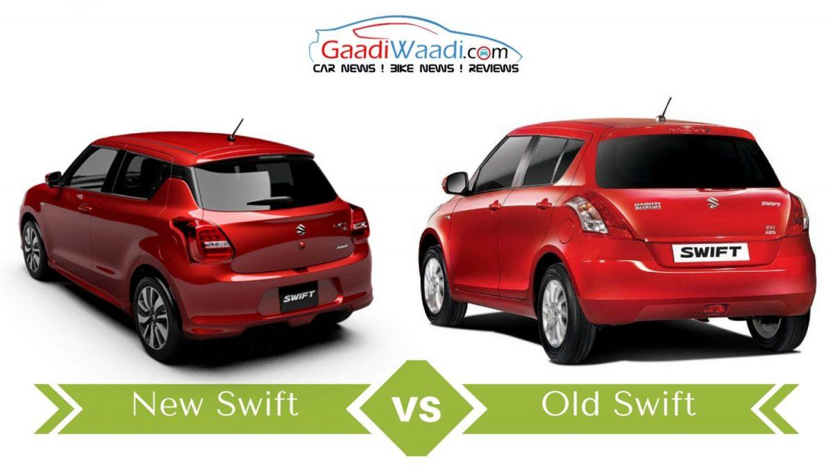 new 2017 maruti swift vs old model swift comparison. Black Bedroom Furniture Sets. Home Design Ideas