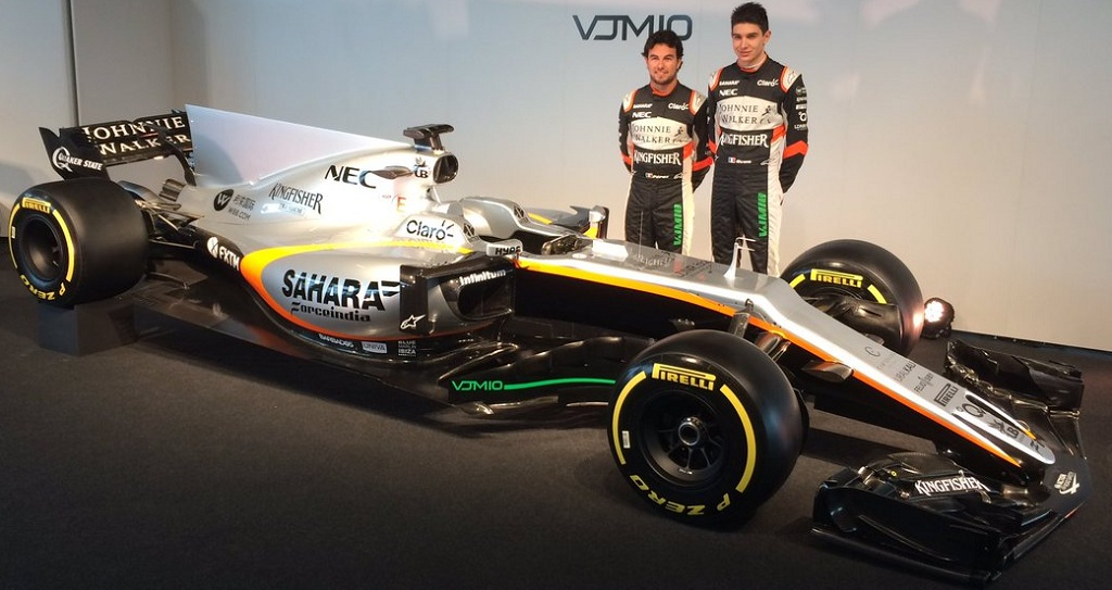 force india unveils 2017 f1 car at silverstone car news bike news reviews. Black Bedroom Furniture Sets. Home Design Ideas