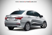2017 Hyundai Xcent Facelift Rear Fascia Rendered