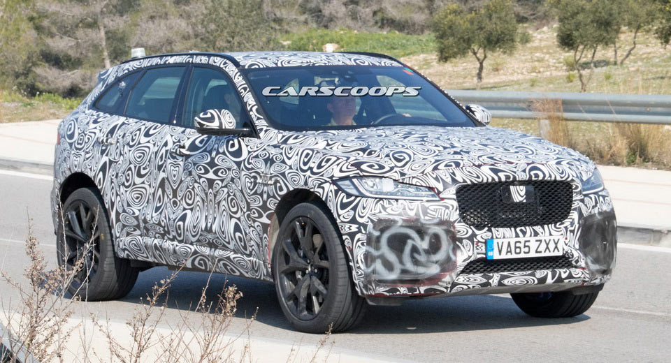 2018 Jaguar F-Pace SVR Spied