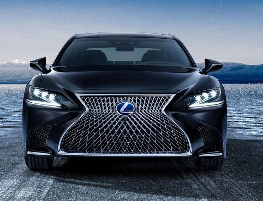 lexus ls 500 f sport teased ahead of new york auto show debut. Black Bedroom Furniture Sets. Home Design Ideas