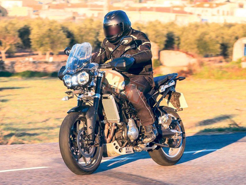 2019 Triumph Tiger 800 Adventure Bike Spied 1
