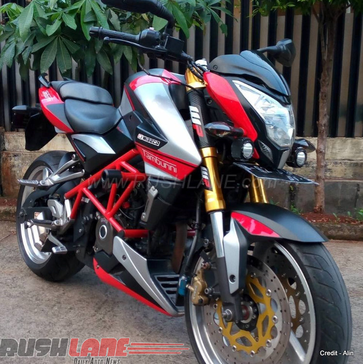 bajaj pulsar 200 ns disguised as aprilia with stunning attention to