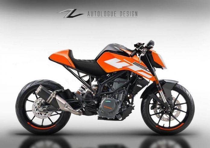 customised Duke 250