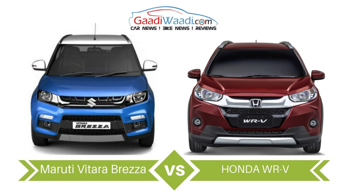 Honda Wrv Vs Maruti Suzuki Vitara Brezza Specs Comparison