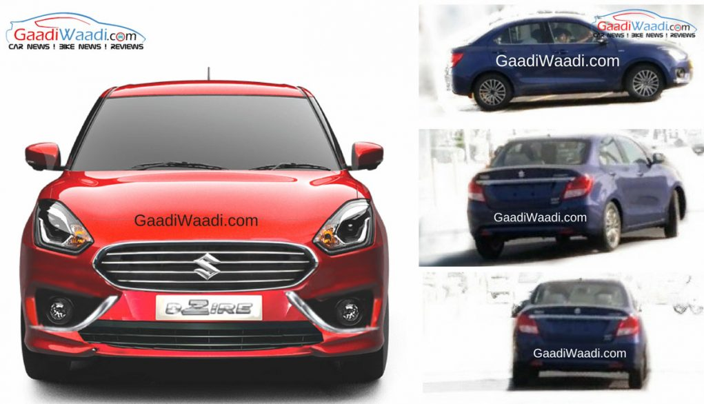 exclusive 2017 maruti dzire production version spied undisguised. Black Bedroom Furniture Sets. Home Design Ideas
