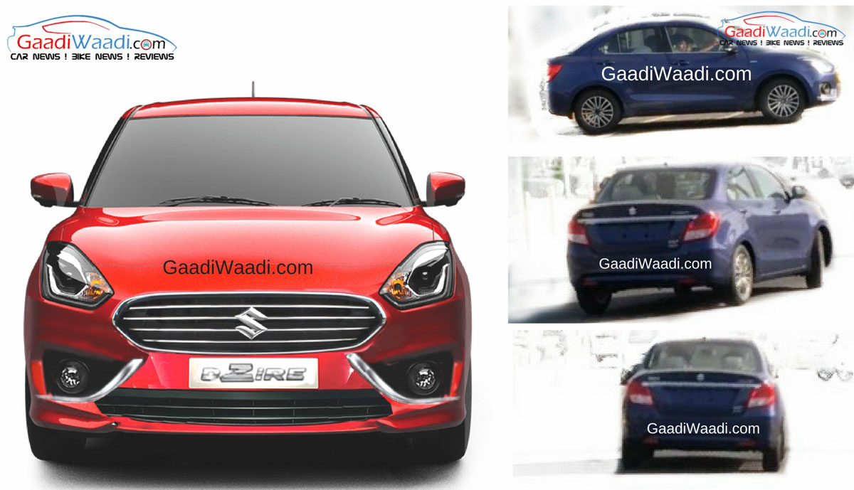 Exclusive: 2017 Maruti Dzire Production Version Spied ...