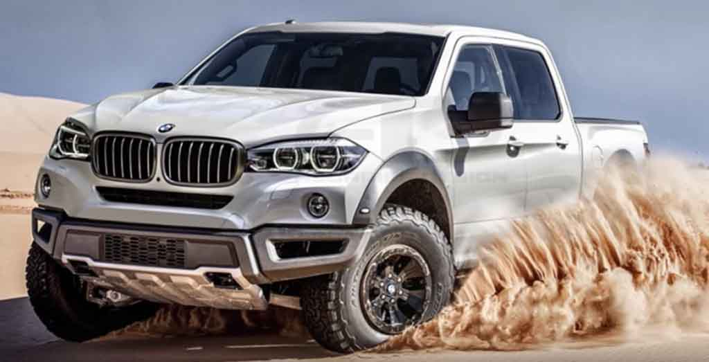 Bmw Pickup Truck Rendering Looks Like A Monster On Wheels