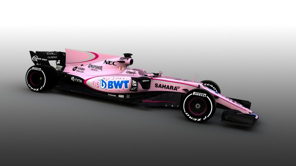 Force India VJM10 Pink Livery