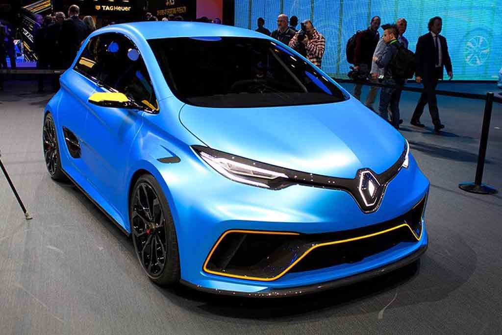 striking renault zoe e sport concept unveiled at geneva. Black Bedroom Furniture Sets. Home Design Ideas