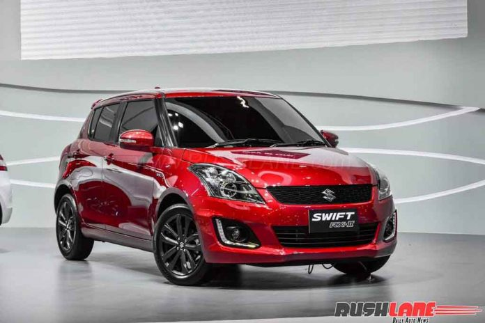 maruti suzuki swift rx ii sport edition displayed at 2017 bims. Black Bedroom Furniture Sets. Home Design Ideas