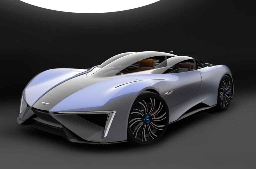 Futuristic Techrules Ren Electric Supercar Launched In Geneva