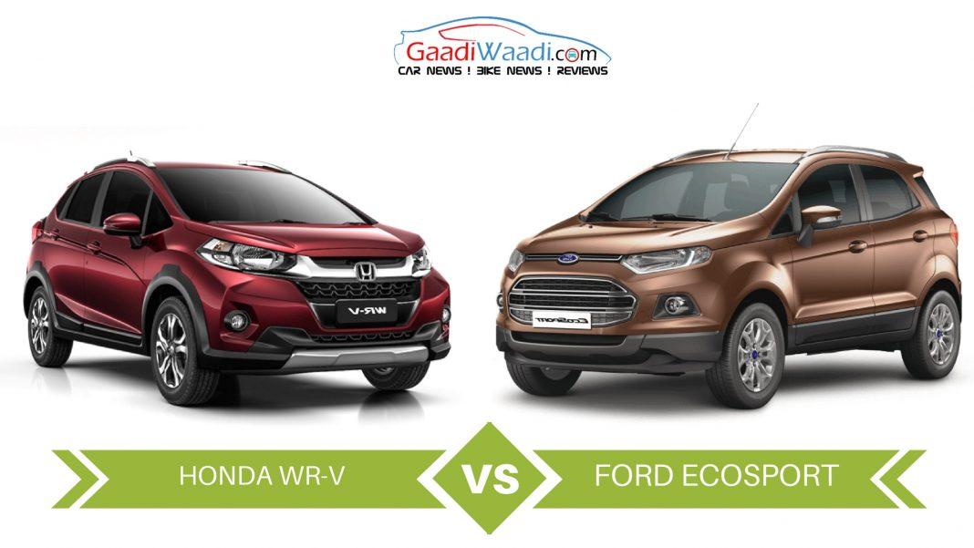 honda wr-v vs ford ecosport