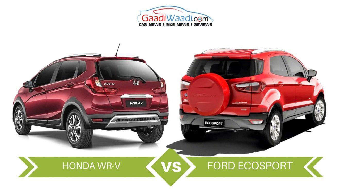 honda wrv vs ford ecosport specs comparison