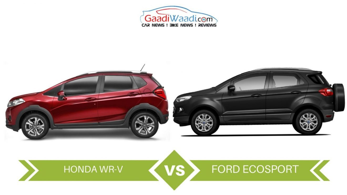 honda wr v vs ford ecosport specs comparison. Black Bedroom Furniture Sets. Home Design Ideas
