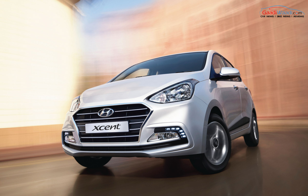 2017 hyundai xcent facelift launched in india price for Hyundai xcent exterior