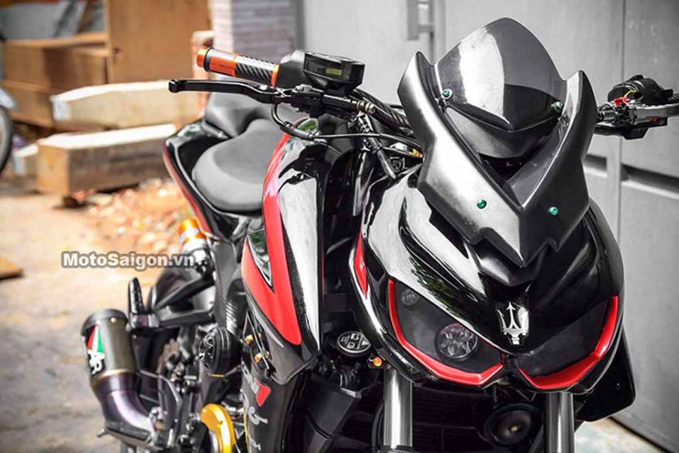 bajaj pulsar ns200 customised into a kawasaki z1000 lookalike