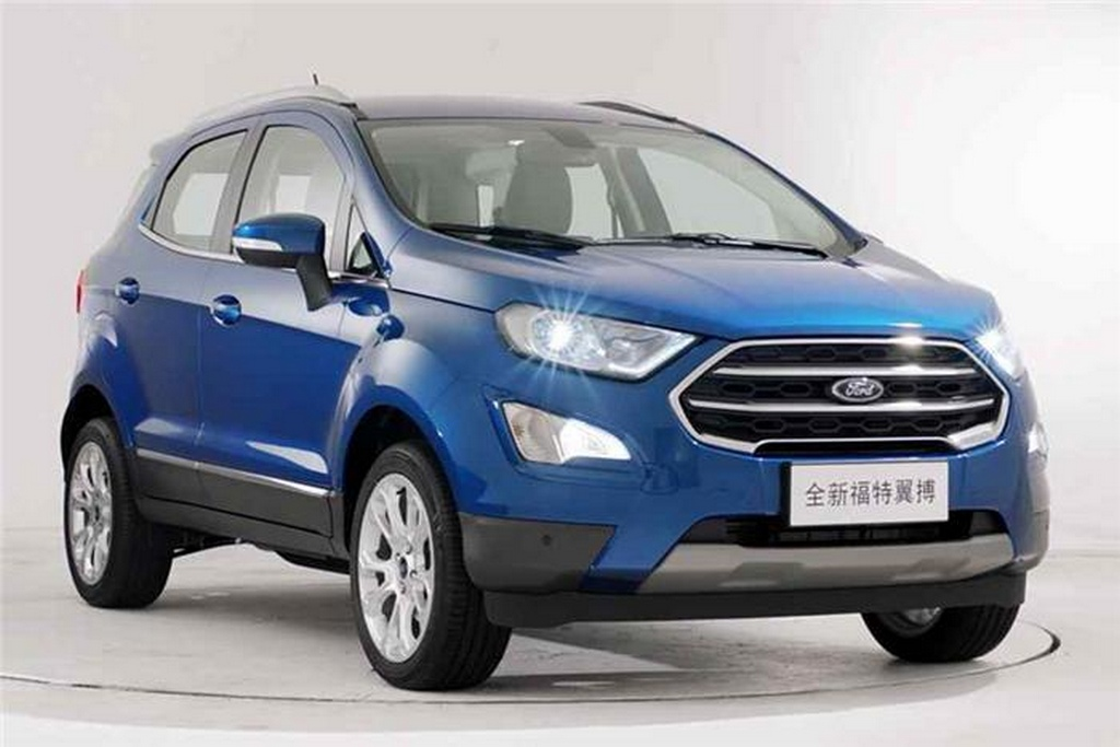 facelifted ford ecosport to debut at 2017 shanghai motor show. Black Bedroom Furniture Sets. Home Design Ideas