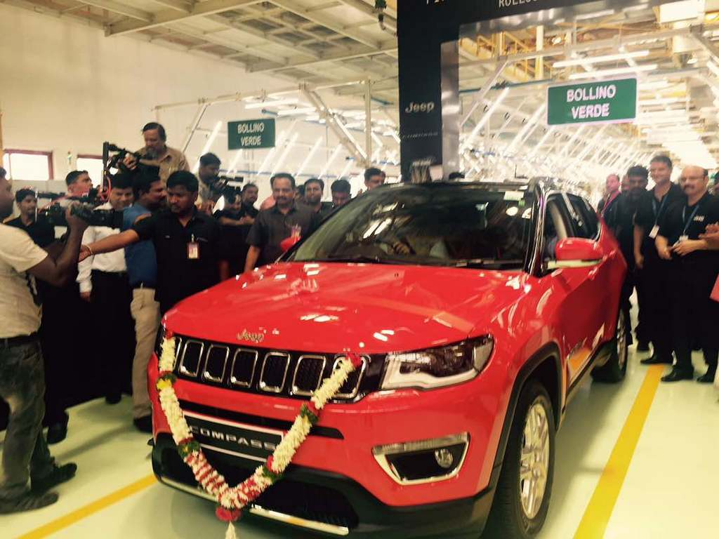 First Made-In-India Jeep Compass Rolled Out of Production with 65% Localisation 1