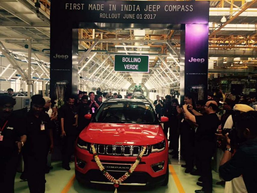 First Made-In-India Jeep Compass Rolled Out of Production with 65% Localisation
