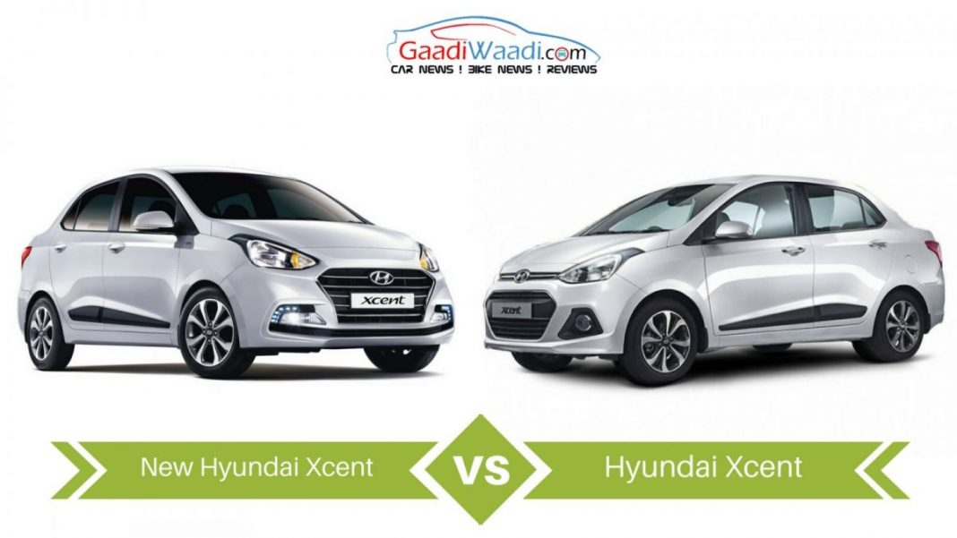 New 2017 Hyundai Xcent vs Old Hyundai Xcent – Specs Comparison