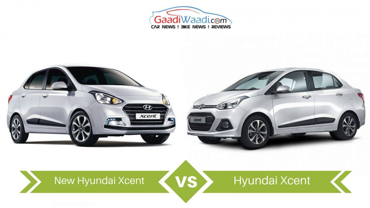 New 2017 Hyundai Xcent Vs Old Hyundai Xcent Specs Comparison